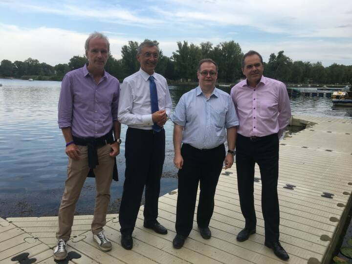 Christian Drastil (BSN), Thomas Birtel (Strabag), Gregor Rosinger (Rosinger Group), Wolfgang Matejka (Matejka & Partner)