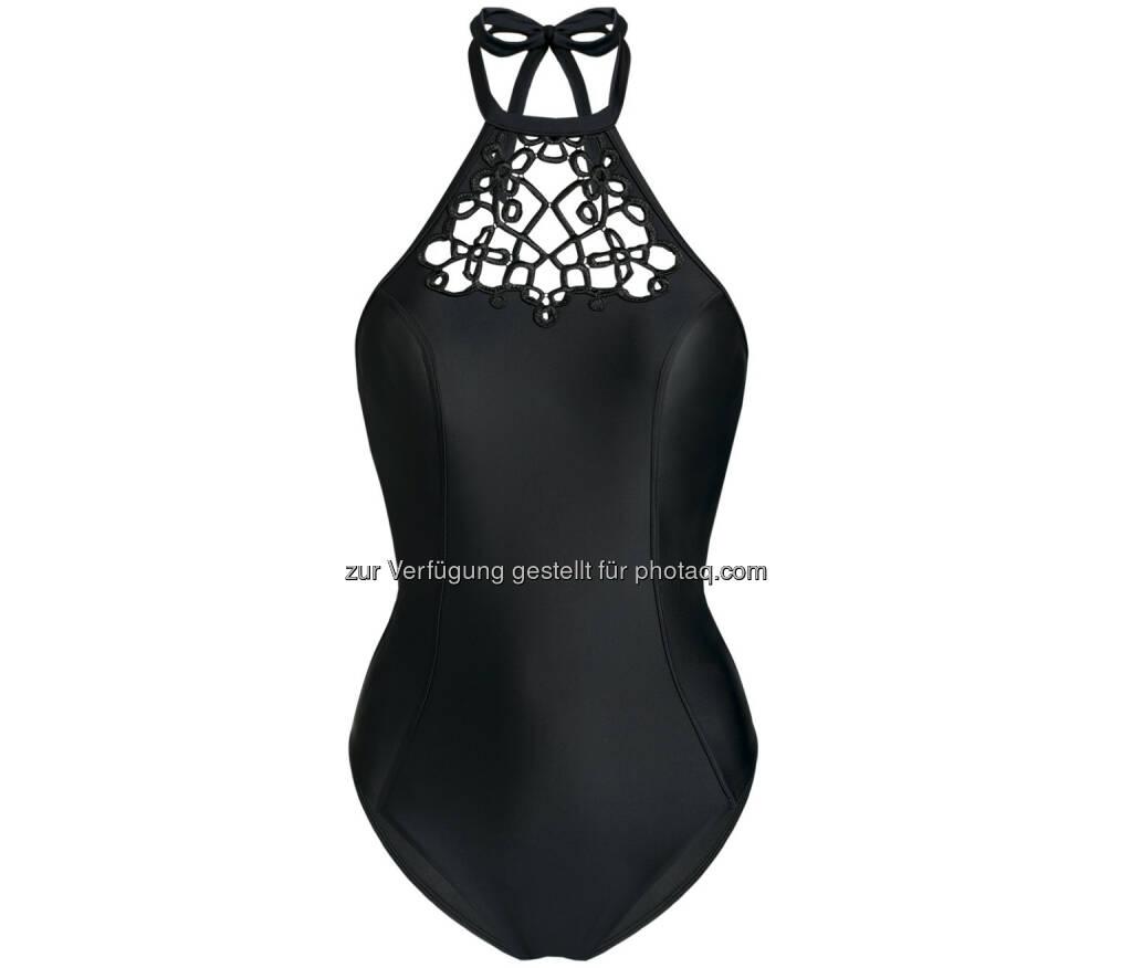 Palmers Textil AG: Palmers Swimwear, schwarzer Badeanzug, Fotocredit: Palmers Textil AG, © Aussendung (21.08.2017)
