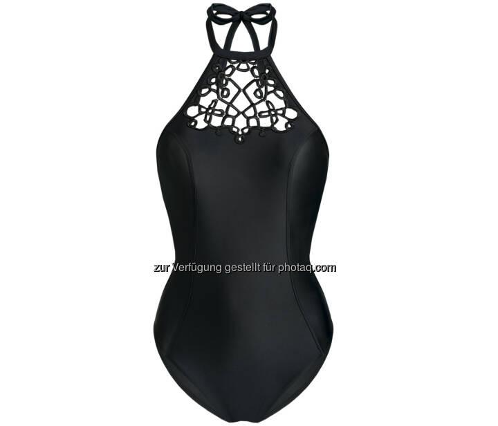 Palmers Textil AG: Palmers Swimwear, schwarzer Badeanzug, Fotocredit: Palmers Textil AG