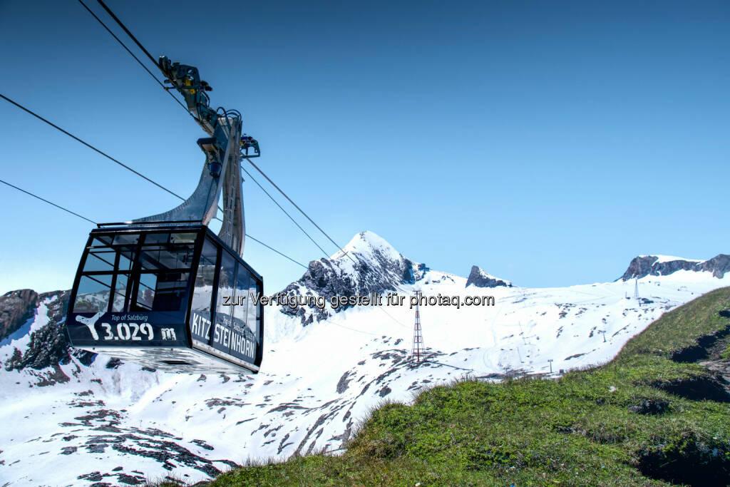 Kitzsteinhorn - Gletscherbahnen Kaprun AG übernimmt EuroNet Reisebüro GmbH, Gondel, Schnee, Skifahren, Berg, Fotocredit: Gletscherbahnen Kaprun AG, © Aussendung (21.08.2017)