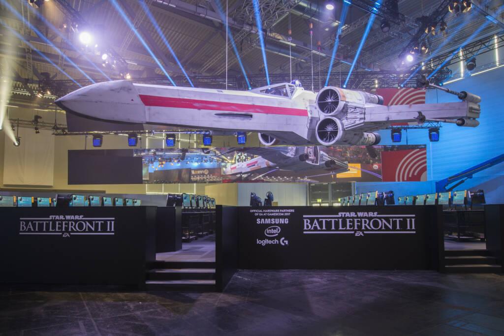 gamescom 2017: Electronic Arts präsentiert Luke Skywalkers ikonischen Rot 5 X-Flügler, Raumschiff, Fotocredit: Electronic Arts, © Aussendung (23.08.2017)