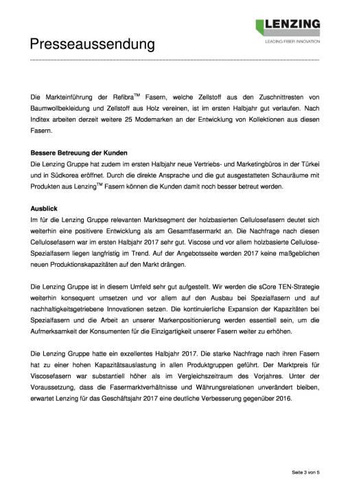 Lenzing Gruppe mit bestem Halbjahr der Unternehmensgeschichte, Seite 3/5, komplettes Dokument unter http://boerse-social.com/static/uploads/file_2312_lenzing_gruppe_mit_bestem_halbjahr_der_unternehmensgeschichte.pdf