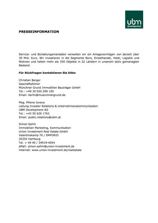 UBM: Hotel-Großprojekt in Hamburg für 90 Mio. Euro an Union Investment verkauft, Seite 3/3, komplettes Dokument unter http://boerse-social.com/static/uploads/file_2314_ubm_hotel-grossprojekt_in_hamburg_fur_90_mio_euro_an_union_investment_verkauft.pdf