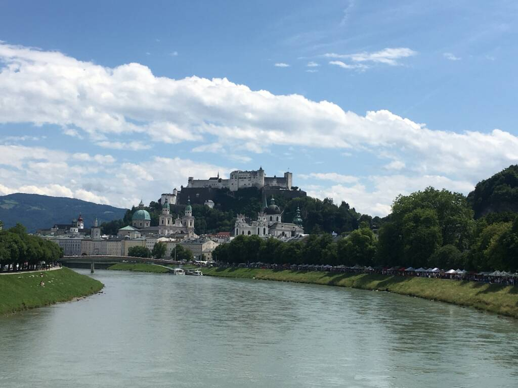 Salzburg, Festung Hohensalzburg, Salzach, © diverse photaq (25.08.2017)
