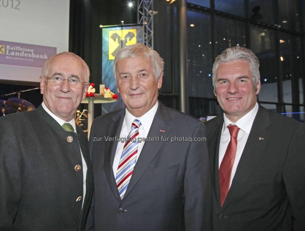 Bamberger, Hofer, Lehner, © RLB OÖ/Strobl (15.12.2012)