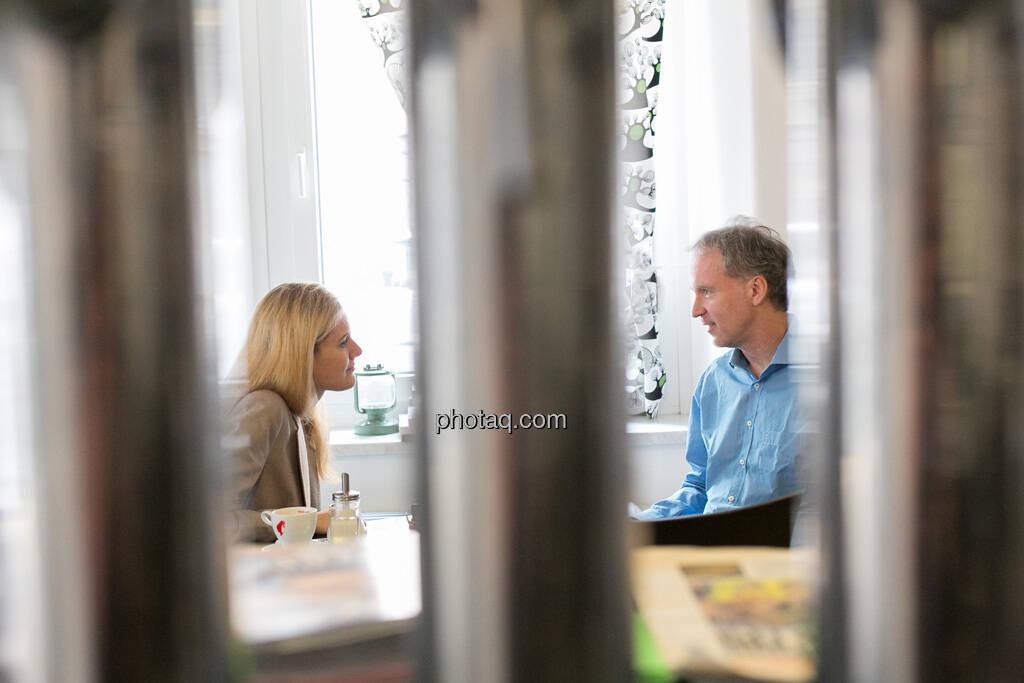 Talk: Claudia Gamon (JuLis/Neos), Christian Drastil, © finanzmarktfoto.at/Martina Draper (23.05.2013)