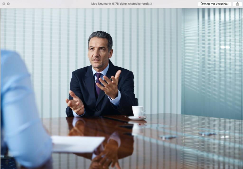Novomatic-Vorstandsvorsitzender Harald Neumann hat im ersten Halbjahr des Geschäftsjahres 2017 einen Rekordumsatz präsentiert; Fotocredits: Novomatic, © Aussender (30.08.2017)