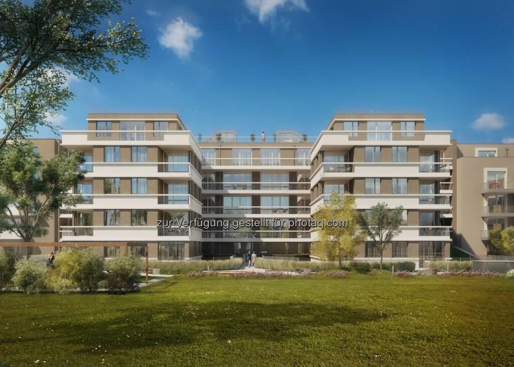 Semper Constantia-Immoprojekt: MAX.LIVING, Innenhofansicht © Schneider+Schumacher Architekten ZT GmbH (04.09.2017)