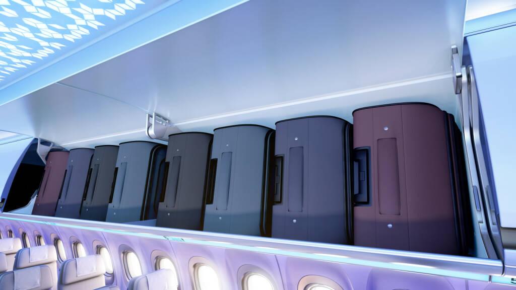 """FACC ist Technologiepartner von Airbus in der Entwicklung und Fertigung der Gepäckablagen und Deckenpaneele für die neue """"Airspace"""" Kabine der A320 Familie; Bild: Airbus, © Aussendung (04.09.2017)"""