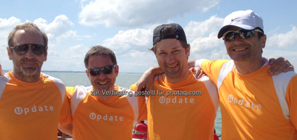 update.Ruder-Team meistert Vogalonga - Arno Huber, Bernhard Wagner, Norbert Künzl, Georg Gradinger http://crm-blog.update.com/de/2013/05/update-ruder-team-meistert-vogalonga/ (24.05.2013)