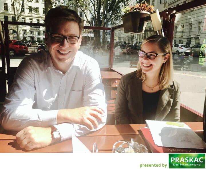 Mit Martin Theyer und Irene Bucnik beim Healthcare-Brainstormen