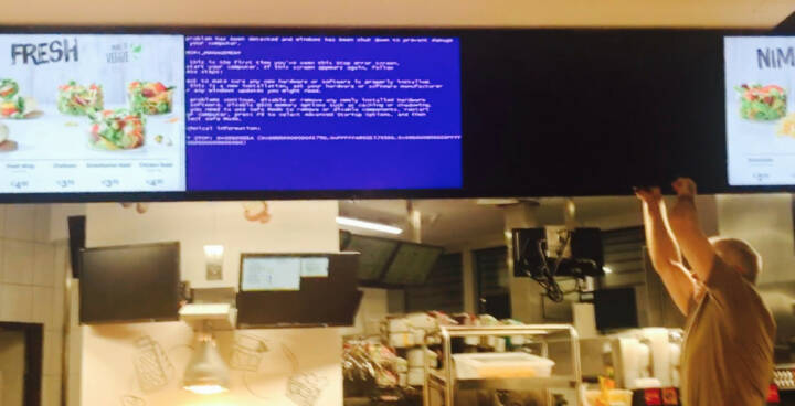 McDonalds Blue Screen
