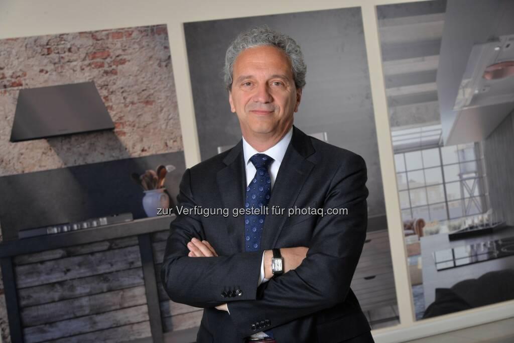 Ettore Zoboli übernimmt zum 1. Oktober die Leitung der neuen Division Faber und wird gleichzeitig Mitglied der Konzernleitung - Franke Group: Franke beschliesst neue Division Faber für Abzugshauben und Cooking (FOTO) (Fotocredit: Franke Group), © Aussender (06.09.2017)