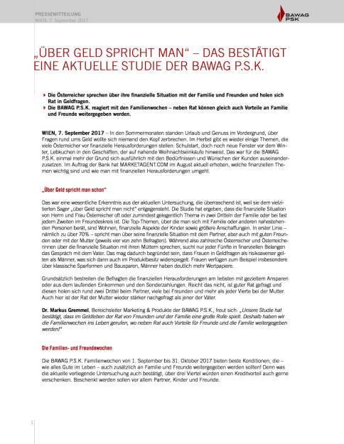 """""""Über Geld spricht man"""" – eine aktuelle Studie der BAWAG P.S.K., Seite 1/2, komplettes Dokument unter http://boerse-social.com/static/uploads/file_2328_uber_geld_spricht_man_eine_aktuelle_studie_der_bawag_psk.pdf (07.09.2017)"""
