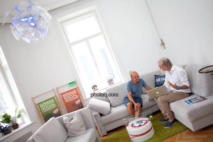 Werner Lanthaler (CEO Evotec), Christian Drastil (Herausgeber Börse Social Magazine) - (Fotocredit: Michaela Mejta für photaq.com)