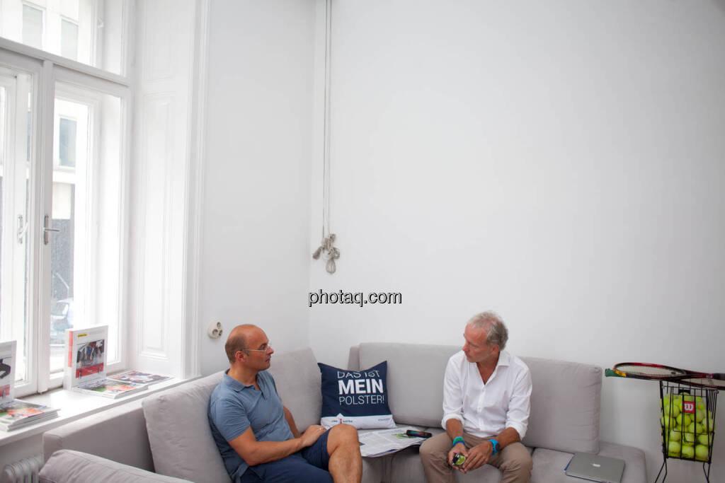 Werner Lanthaler (CEO Evotec), Christian Drastil (Herausgeber Börse Social Magazine) - (Fotocredit: Michaela Mejta für photaq.com), © Michaela Mejta für photaq.com (08.09.2017)
