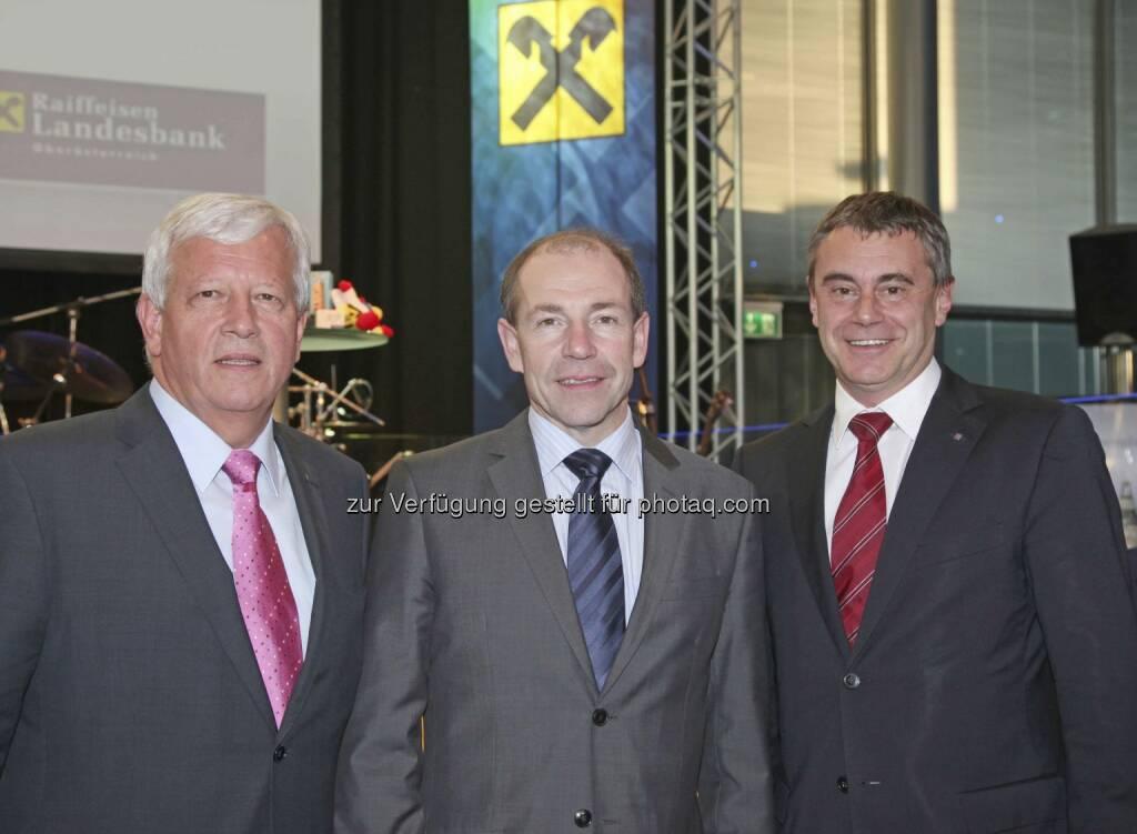 Auer, Hiegelsberger, Schaller, © RLB OÖ/Strobl (15.12.2012)