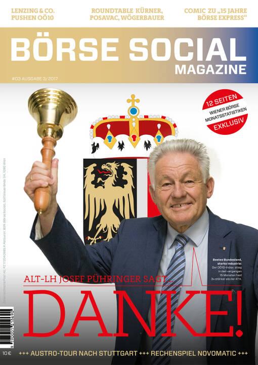 Börse Social Magazine #3 mit Josef Pühringer, Alt-LH OÖ, am Cover