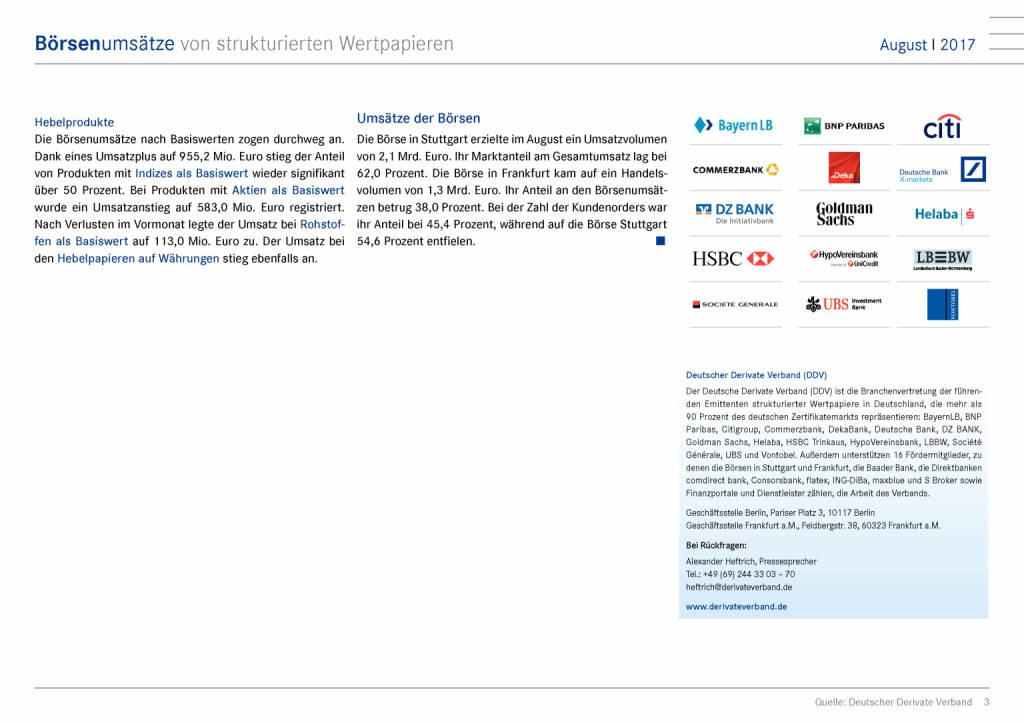 Zertifikatemarkt Deutschland: Weiter steigende Umsätze, Seite 3/9, komplettes Dokument unter http://boerse-social.com/static/uploads/file_2332_zertifikatemarkt_deutschland_weiter_steigende_umsatze.pdf (11.09.2017)