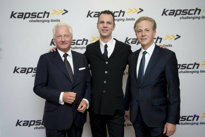 Kapsch AG feiert 125% Geburtstag - Kari Kapsch, Teodor Currentzis und Georg Kapsch, Bild: Kapsch
