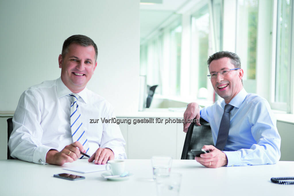 Wiener Privatbank Vorstände Eduard Berger und Dr. Helmut Hardt - Wiener Privatbank SE: Wiener Privatbank SE steigert Halbjahresergebnis 2017 auf EUR 3,50 Mio. (Fotocredit: Wiener Privatbank SE), © Aussender (13.09.2017)