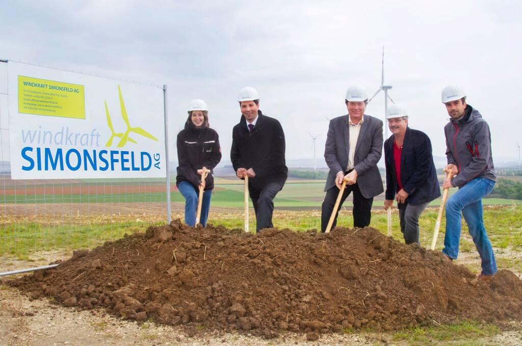 Windkraft Simonsfeld AG: Spatenstich im Windpark Kreuzstetten; Fotocredit: Windkraft Simonsfeld AG, © Aussendung (20.09.2017)