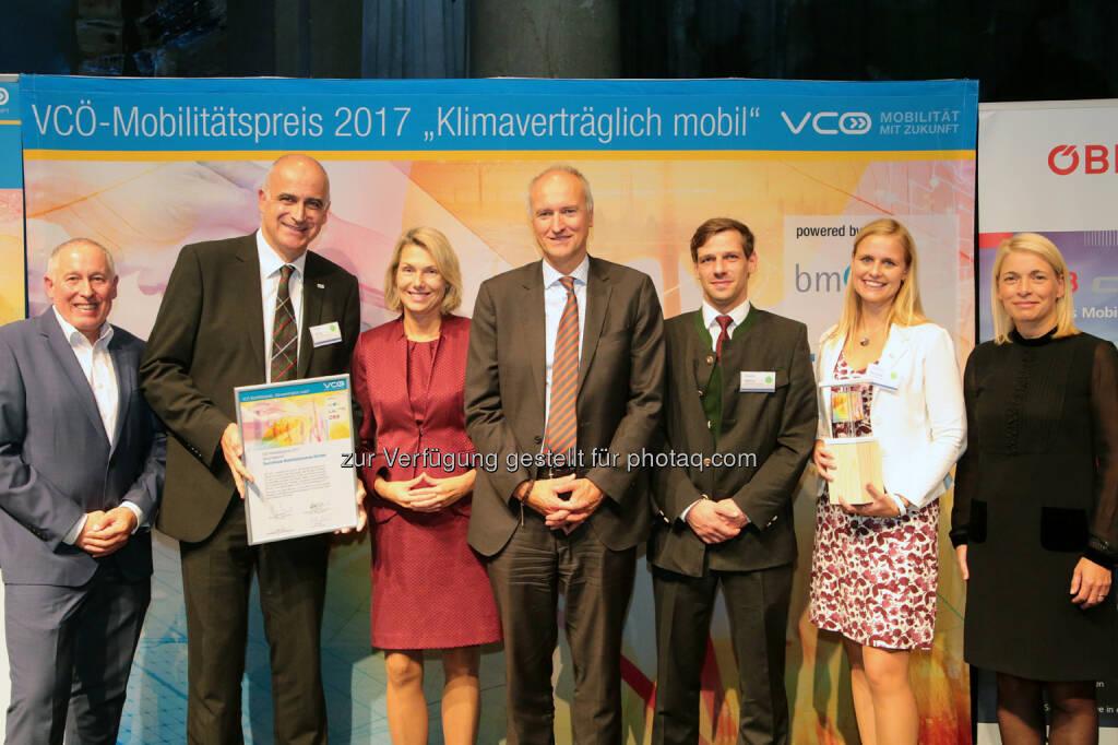 VCÖ - Mobilität mit Zukunft: VCÖ-Mobilitätspreis Österreich an Touristische Mobilitätszentrale (Fotocredit: VCÖ/APA-Fotoservice/Hautzinger), © Aussender (20.09.2017)