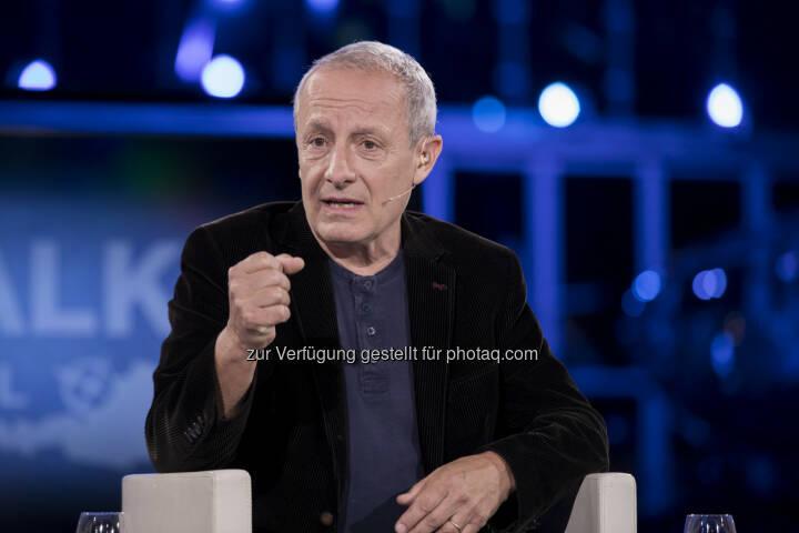 Peter Pilz zu Gast bei Talk im Hangar-7 -Wahl-Spezial - ServusTV: Pilz: Die Mindestpension von 1.200 Euro wird finanzierbar sein (Fotocredit: ServusTV / Neumayr / Leo)