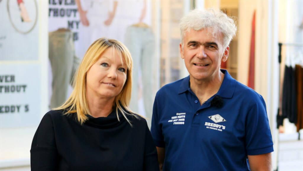 Claus und Manuela Bretschneider starten eine Crowdinvesting-Kampagne auf Green Rocket. Die Breddy's Crossover-Hose wurde entwickelt, um jeden Tag und in jeder Lebenssituation getragen zu werden und ist bereits in Online-Shops, über Vertriebspartner und im Breddy's-Store in Mödling erhältlich. Bild: Breddy's, © Aussendung (02.10.2017)