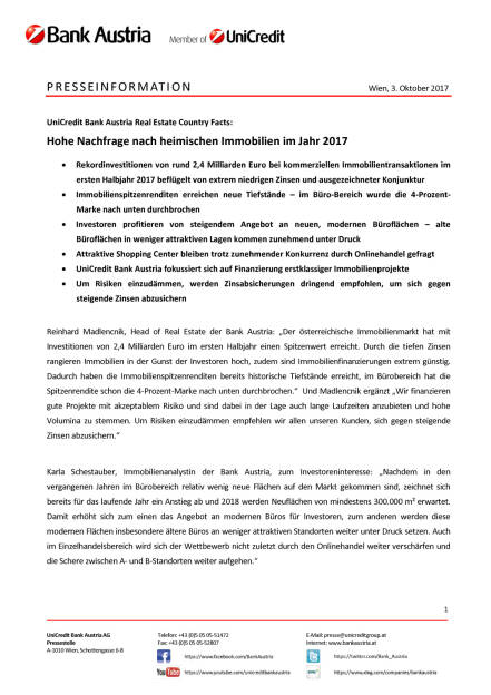 Hohe Nachfrage nach heimischen Immobilien im Jahr 2017, Seite 1/4, komplettes Dokument unter http://boerse-social.com/static/uploads/file_2355_hohe_nachfrage_nach_heimischen_immobilien_im_jahr_2017.pdf (03.10.2017)
