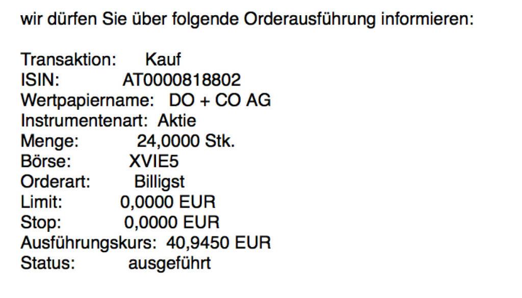 Kauf Do&Co für #100100hello #goboersewien (03.10.2017)