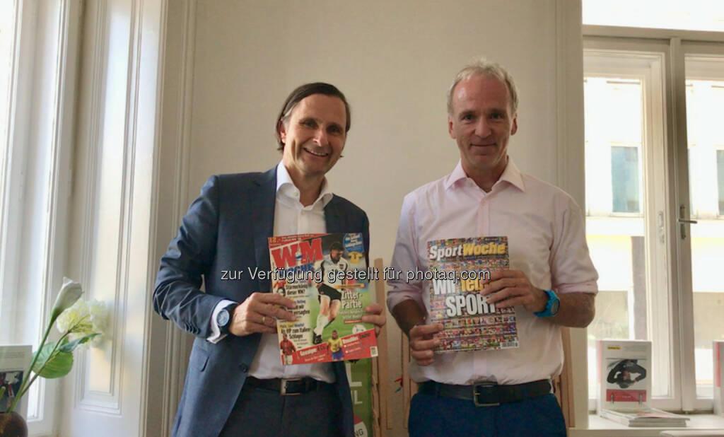Klaus Schweighofer und Christian Drastil mit der ersten und letzten Ausgabe der Sport Woche (04.10.2017)