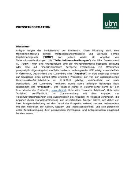 UBM begibt erfolgreich neue Anleihe, Seite 2/2, komplettes Dokument unter http://boerse-social.com/static/uploads/file_2357_ubm_begibt_erfolgreich_neue_anleihe.pdf (05.10.2017)