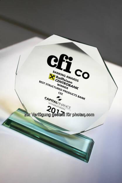 RCB holt CEE-Zertifikate-Award von CFI.co (05.10.2017)