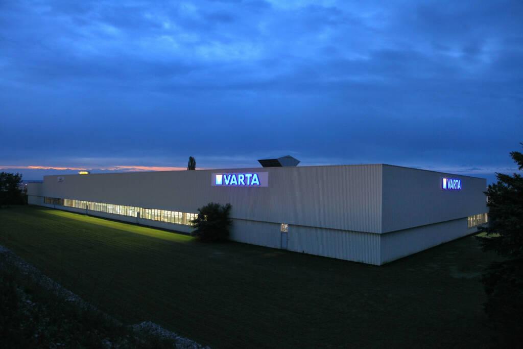 Gebäude der Varta Storage GmbH in Nördlingen. Fotocredit: Varta AG, © Aussendung (06.10.2017)