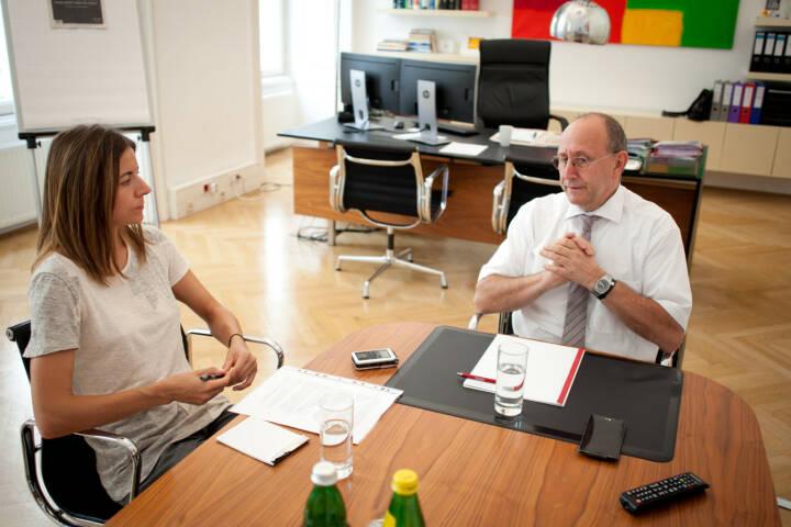 Ludwig Nießen (Wiener Börse), Christine Petzwinkler (BSM), Foto: Michaela Mejta