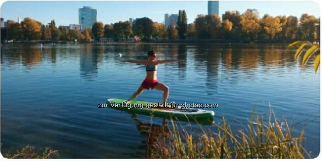 SUP Maria Hinnerth Alte Donau (16.10.2017)