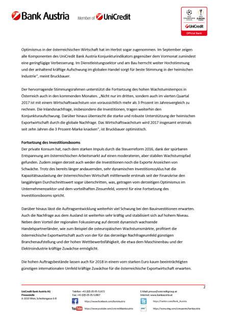 UniCredit Bank Austria Konjunkturindikator: Konjunkturaufschwung geht in die Verlängerung, Seite 2/5, komplettes Dokument unter http://boerse-social.com/static/uploads/file_2364_unicredit_bank_austria_konjunkturindikator_konjunkturaufschwung_geht_in_die_verlangerung.pdf (16.10.2017)