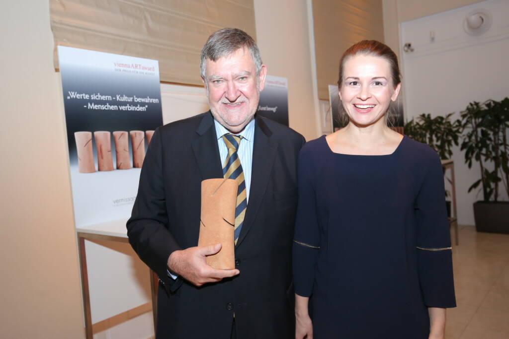 Herbert Stepic und Lebensgefährtin Marina, Fotocredit: Robin Consult/Moni Fellner (18.10.2017)