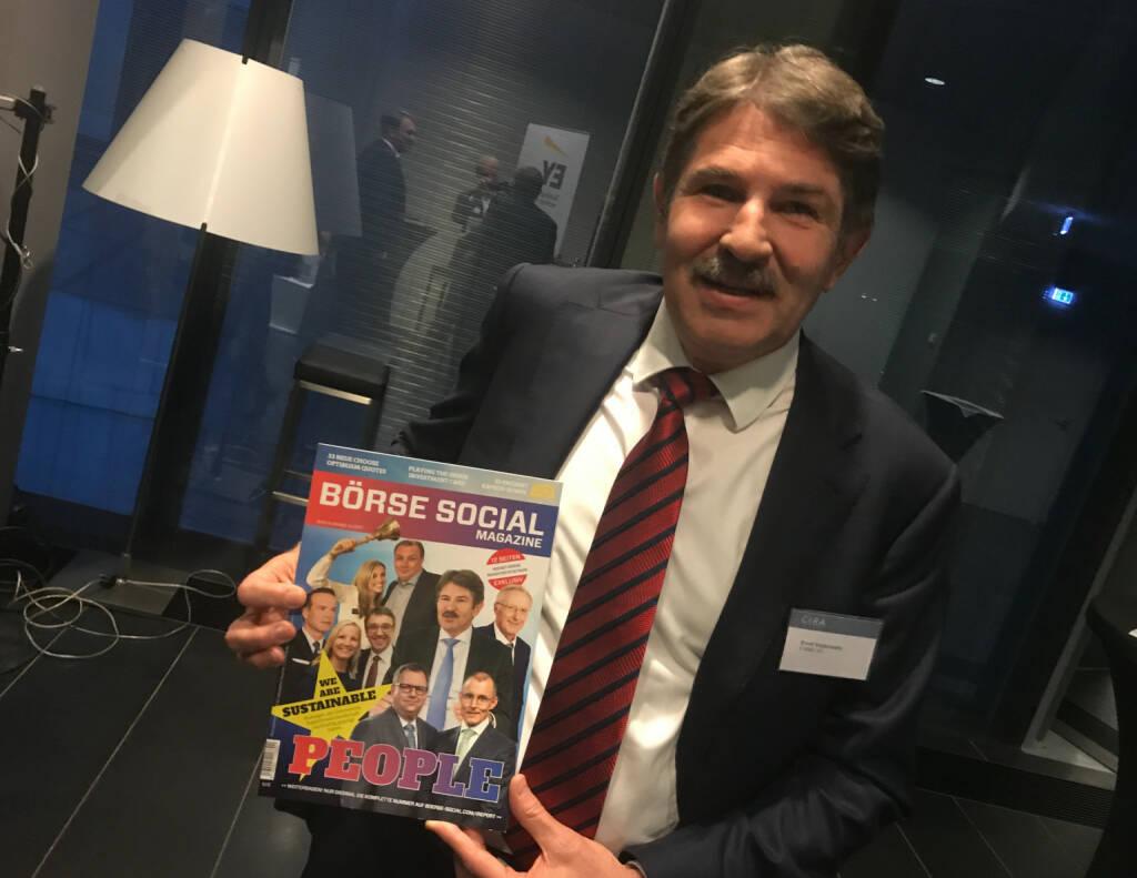 Ernst Vejdovszky, er ist in Ausgabe #9 des http://www.boerse-social.com/magazine auf dem Cover (18.10.2017)