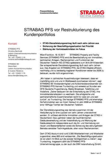 Strabag PFS vor Restrukturierung des Kundenportfolios, Seite 1/2, komplettes Dokument unter http://boerse-social.com/static/uploads/file_2369_strabag_pfs_vor_restrukturierung_des_kundenportfolios.pdf (18.10.2017)