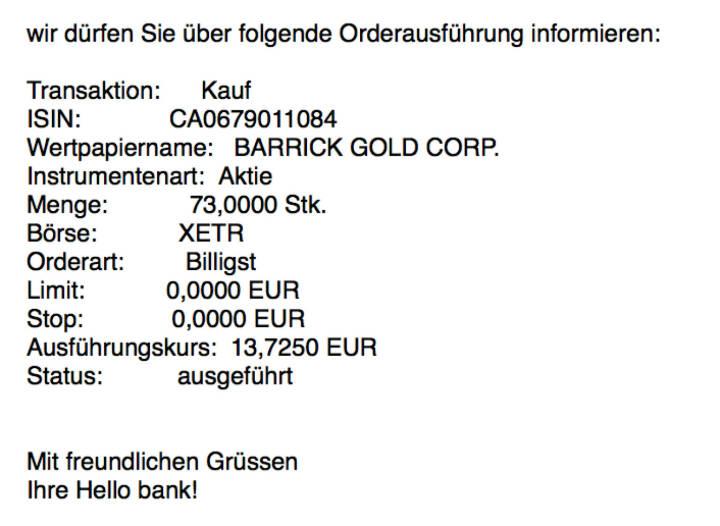 Kauf Barrick Gold für #100100hello #goboersewien