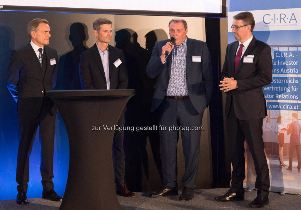 Gerhard Bachmaier, Thomas Melzer, Hannes Roither, Harald Hagenauer, © C.I.R.A./APA-Fotoservice/Martin Lusser (18.10.2017)