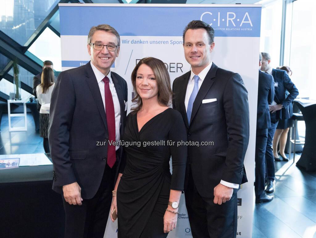Harald Hagenauer, Viola Grebe, Christoph Boschan, © C.I.R.A./APA-Fotoservice/Martin Lusser (18.10.2017)