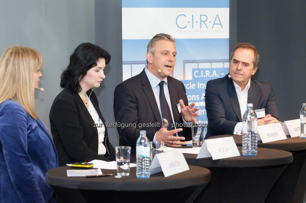 Elke Koch, Diana Klein, Thomas Rainer, Wolfgang Matejka, © C.I.R.A./APA-Fotoservice/Martin Lusser (18.10.2017)