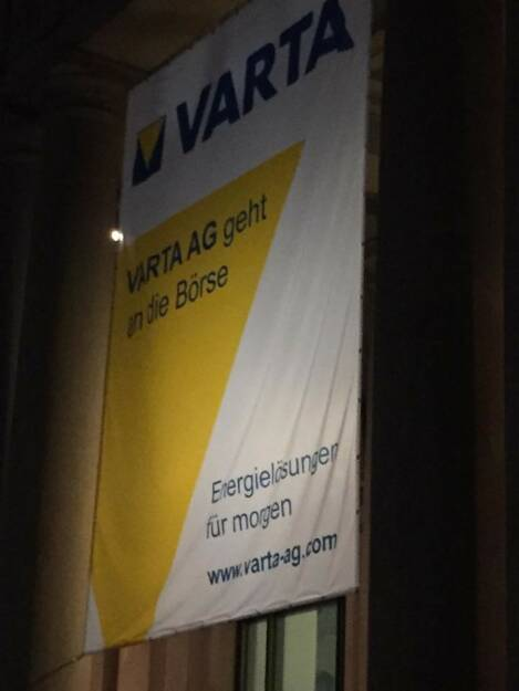 Varta AG geht an die Börse, © Viola Grebe (19.10.2017)