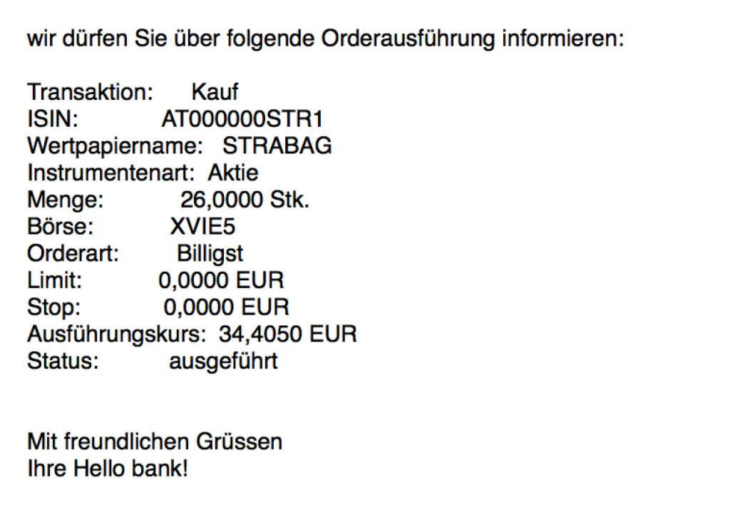 Kauf Strabag zum 10. Börsegeburtstag für #100100hello #goboersewien , siehe auch http://boerse-social.com/2017/10/19/diana_neumuller-klein_mit_der_opening_bell_fur_donnerstag_und_zum_10_borsegeburtstag_der_strabag#a_187824 (19.10.2017)