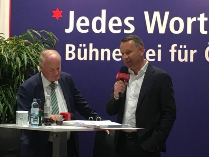 Star der Stunde: Palfinger CEO Herbert Ortner