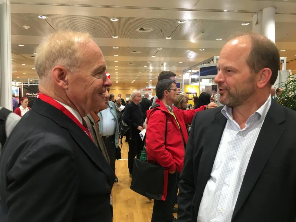 Amag-CEO Helmut Wieser und AT&S-Chef Andreas Gerstenmayer (19.10.2017)