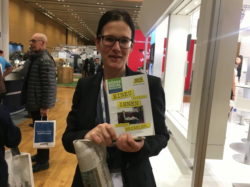 Immofinanz-IR-Chefin Bettina Schragl (19.10.2017)